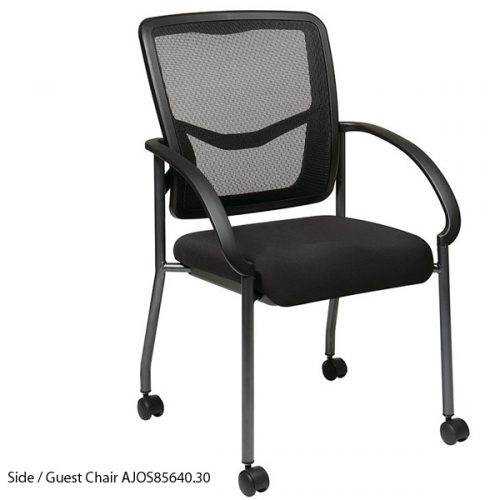 Great Guest/Side Chair On Casters Mesh Back, Padded Mesh Seat