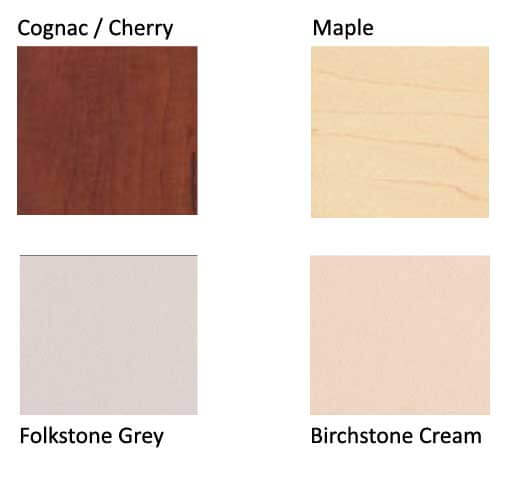 Ajax Standard Worksurface colors