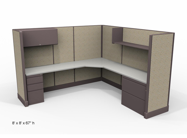 at ajax we build cubicles and office furniture on site and pass the