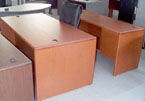 Used Hon Desk and Credenza