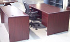 Used Desk and Credenza